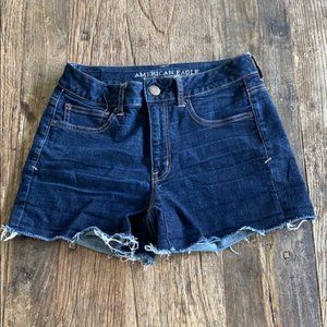 American Eagle Super stretch raw hem Jean shorts